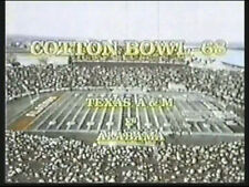 1968 Cotton Bowl Game DVD Alabama vs Texas A&M BRYANT vs STALLINGS Free Shipping