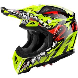 Airoh Aviator 2.2 Grim Yellow Helmet MX Motocross Off-Road Enduro Quad ATV