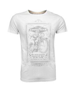 GoodYear Off-White Premium T-Shirt MOTORCYCLE Auto Biker Hot-Rod Cotton Hemd