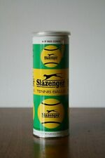 *New* Slazenger Sealed Metal Can of 3 Tennis Balls (Hot Red) Made in England