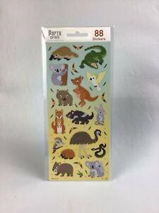 Aussie Animal Stickers - 88 pack