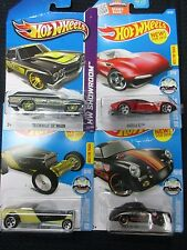 Hot Wheels 4-Showroom New in Sealed Packages 1:64