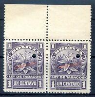 BOLIVIA FLOWER Pair Revenue SPECIMEN MNH
