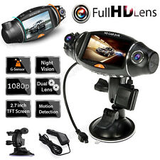 Dual Lens GPS Camera HD Car DVR Dash Cam Video Recorder Night Vision G-Sensor US
