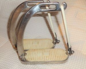 "CENTAUR Safety Peacock Stirrups - Stainless Steel - 4 3/4"" Size - GREAT!"