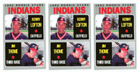 (3) 1992 Baseball Card Monthly #43 Jim Thome & Kenny Lofton Baseball Card Lot
