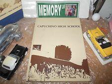 ORIGINAL 1978 CAPUCHINO HIGH SCHOOL YEARBOOK/ANNUAL/JOURNAL/SAN MATEO CALIFORNIA