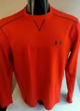 UNDER ARMOUR Coldgear Loose LS Thermal T Shirt Red SZ LARGE