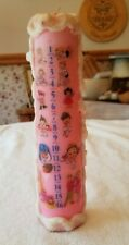Vintage Pillar Birthday Candle Marks 1-16 Years Old 1960's Never Used