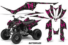 Yamaha Raptor350 AMR Racing Graphic Kit Wrap Quad Decals ATV All Years BFLY PINK