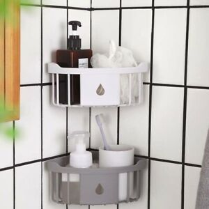 Triangular-Shower Caddy Shelf Bathroom Corner Bath Storage-Holder Organizer Rack