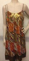 NWOT Nicole Miller Multicolor SZ 12 Silk Metallic Dress
