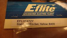 BLADE Stabilizer/Fin Set, Yellow: B400 EFLH1472Y