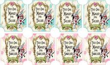 Alice in Wonderland drink me labels party decoration