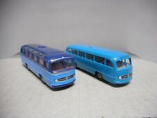 MERCEDES-BENZ O 321 BICOLOR, BLUE AUTOBUS BREKINA 1:87 USADO/SIN CAJA/VER FOTOS