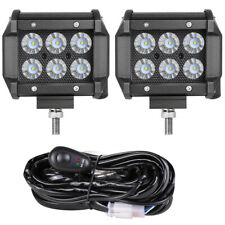 4 Cree Led Cube Work Light Bar Pods Flood 6000k Driving Offroad 4wd Wiring Kit