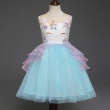 Pequeño Niñas Unicornio Vestido de Fiesta Disfraz Princesa Tul con Tutú