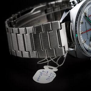 Uhrarmband POLJOT 18 mm Vintage gebürstet EDELSTAHL - NOS Hergestellt in UdSSR