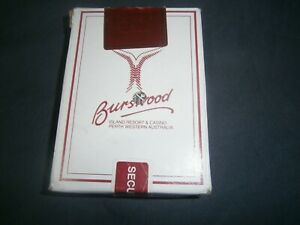 Burswood Casino Playing Cards Western Australia -Red Hole punched-Free Postage