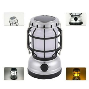 1xOutdoor LED Flame Light Camping Lantern Garden Table Lamp USB Rechargeable -UK