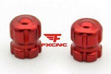 5 Pack Rosso Rotondo Alluminio generico AUTO FURGONE PNEUMATICO RUOTA PNEUMATICO VALVOLA CAPPUCCI DI PROTEZIONE