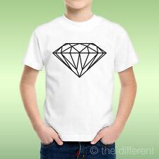 camiseta Niño niño Diamante Negro Minimal Idea De Regalo