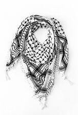 NEW Black and White Arab Arafat Shemagh Keffiyeh Scarf Neck Wrap-100% cotton