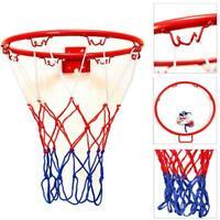 32cm Wall Mounted Basketball Hoop &  Netting Metal Hanging w/ Goal 4 Rim Best