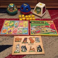 1970's BUNDLE BABY VINTAGE RETRO TOYS FISHER PRICE VICTORY TUPPERWARE ROLY POLY