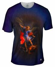 "Yizzam - ""The Archangel Michael defeating Satan""-  New Men Unisex Tee Shirt"