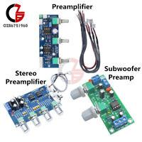 NE5532 Stereo Subwoofer Preamp Tone Control DIY Amplifier Board Module DC 12-24V