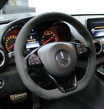 Mercedes-Benz OEM C190 AMG Gt Alcantara Mikrofaser Gelb Trimmed Lenkung Rad