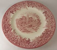 Wedgwood Romantic England Queensware Dinner Plates Red Moreton Old Hall 10 7/8