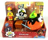 NEW Ryans World Rollin' Moe Action Figure With Spinning Hat and Surprise Inside