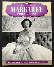 HRH PRINCESS MARGARET COMES OF AGE by Phyllis Davies (Paperback, 1950s) Royal