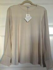 BNWT $855 BRUNELLO CUCINELLI Woman's Vanilla Cotton & Silk Top Size Large