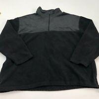 Covington Fleece Jacket Mens 2XL XXL Black Gray 1/3 Zip Stand Up Neck Insulated