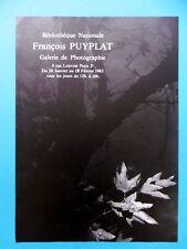 Affiche originale PUYPLAT François 1983 Photographe Arbre Nature Feuille BN