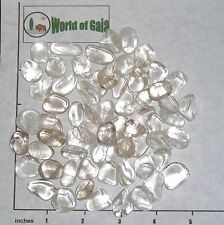 QUARTZ Clear B grade small tumbled, 1/2 lb bulk stones crystal 55-65 pkg