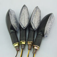 4x Motorcycle LED Turn Signal Indicator Light For Honda Yamaha Suzuki Amber Lamp