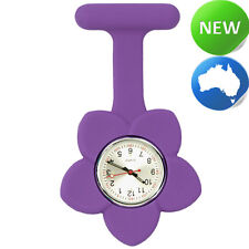 Silicone Frangipani Flower Fob Watch - Purple