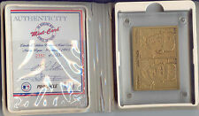 Highland Mint Limited Edition Bronze Nolan Ryan 1993 Pinnacle Card #2352 of 5000