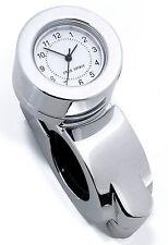 """Handlebar Clock Chrome For Harley HD Honda Yamaha Suzuki Kawasaki Universal 1 """""""