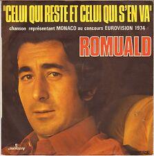 """ROMUALD """"CELUI QUI RESTE ET CELUI QUI S'EN VA"""" 60'S SP EUROVISION 1974"""