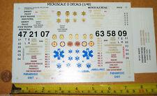 Microscale Police Fire Ambulance Emergency Decals 1/48 O Scale 48-510