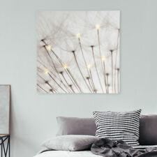 LED Deko Bilder Leuchte Wand Lampe Schlaf Zimmer Flur Leinwand Puste Blume weiß