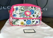 GUCCI Women's Flora Canvas and Pink Leather Handbag, Item 550147