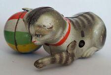 Altes Blechspielzeug : Köhler, Katze mit Ball , US-Zone-Germany