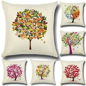 Vintage Cotton Linen Sofa Pillow Case Bed Waist Throw Home Throw Cushion Cover