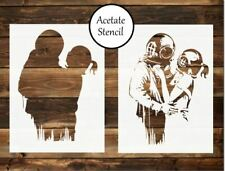 Banksy think tank stencil,Banksy stencil ,craft,fabric,wall art,airbrush